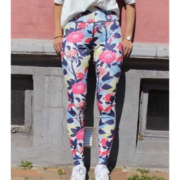 NICOLE LEGGING WHITE FLOWER